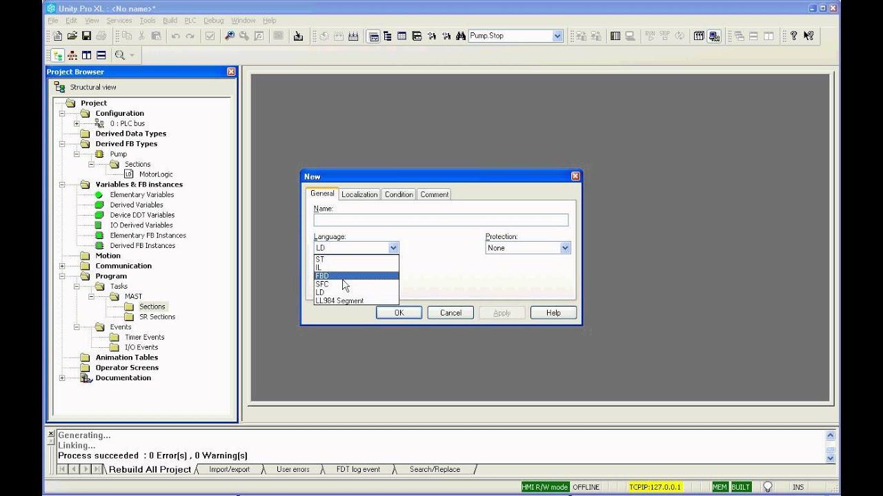 Unity Pro Tutorial-1 - PLC Basic Configuration