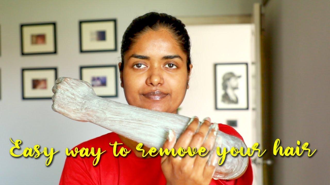 Easy Way To Remove Hair || #ScrubRubAndGlow