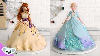 FROZEN 2 Princess Doll Cake  Amazing Elsa and Anna Cake Ideas | How To | Koalipops