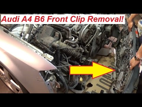 Audi A4 B6 Front Clip Removal. Front Disassembly! 2002-2006