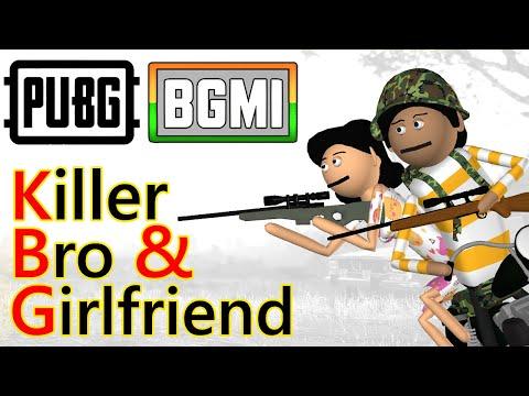 PUBG - Killer Bro \u0026 girlfriend | Pubg Comedy | Goofy Works | Comedy toons
