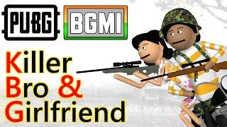 PUBG - Killer Bro & girlfriend | Pubg Comedy | Goofy Works | Comedy toons