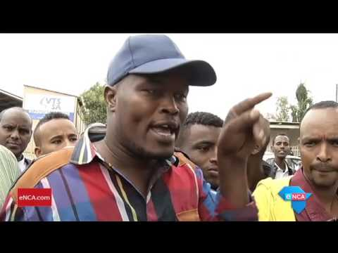 Foreign nationals speak to eNCA on the protest
