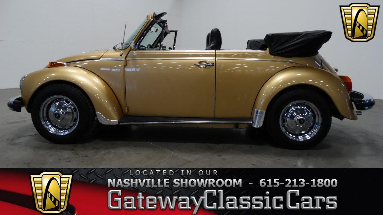 1974 Volkswagen Super Beetle Convertible Gateway Clic Cars Of Nashville 215 You