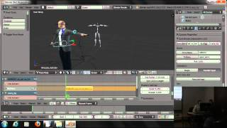 Motion Capture, импорт bvh файлов в Blender (part 07)