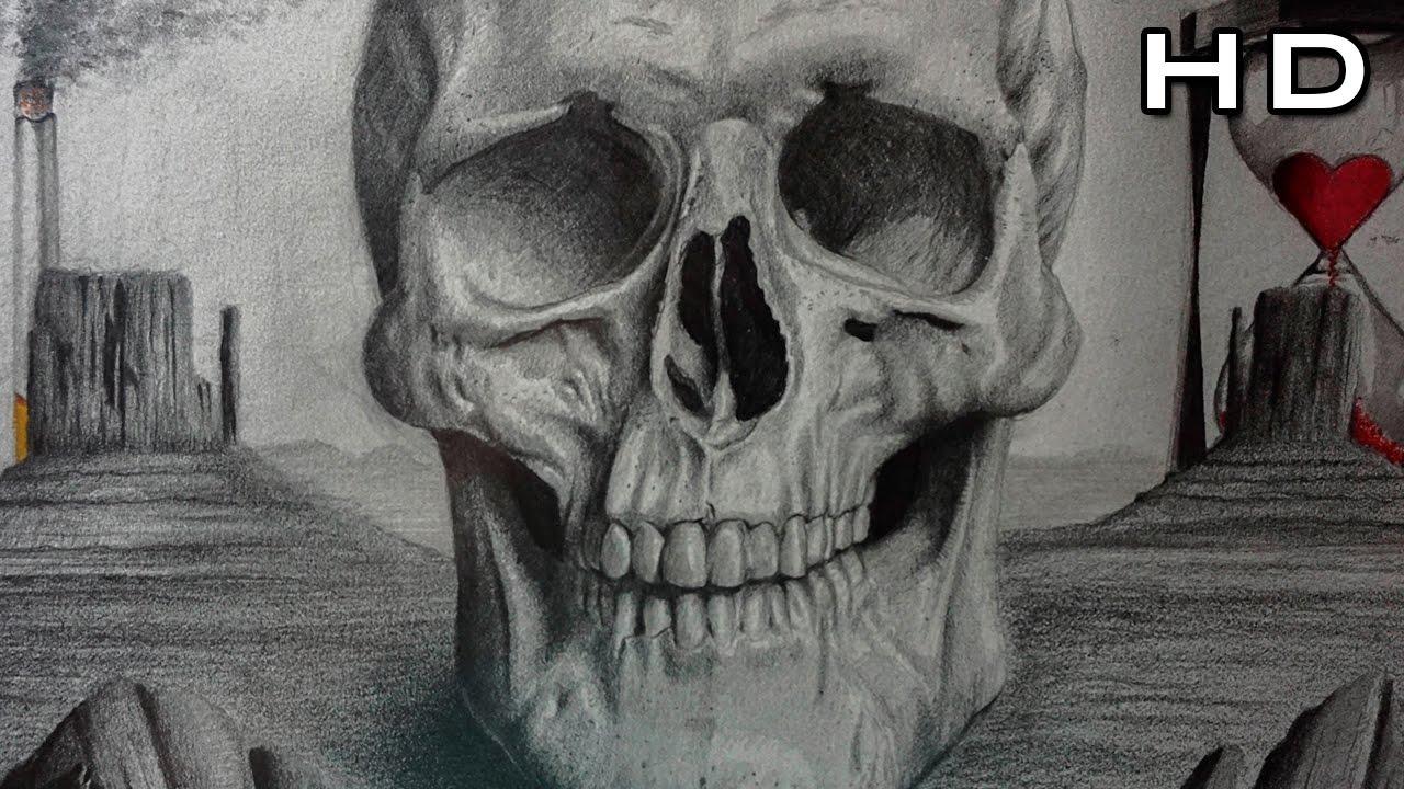 Cómo Dibujar Una Calavera Realista A Lápiz Paso A Paso Cráneo