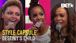Beyoncé, Michelle & Kelly Of Destiny's Child Show Off Superstar Looks On 106 & Park   Style Capsule
