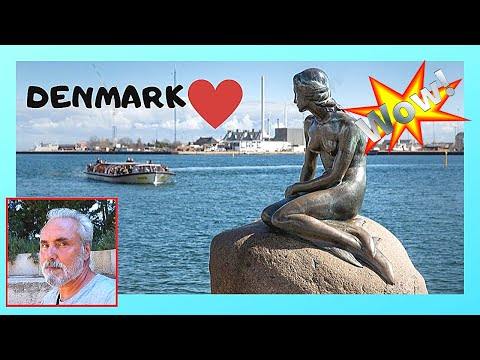 COPENHAGEN, the famous statue of THE LITTLE MERMAID (DENMARK)
