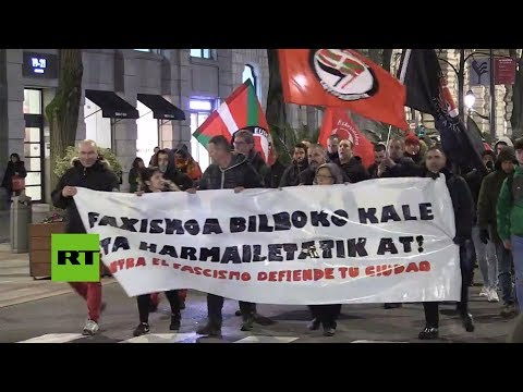 Marcha antifascista en Bilbao  bilbao