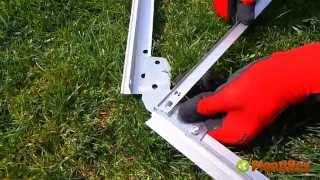 Montaż szklarni ogrodowej (jakość HD)