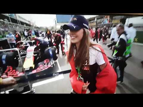 Jos Verstappen gets caught taking picture of a nice girl