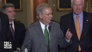 WATCH: Senate Republican leaders hold news conference on tax bill