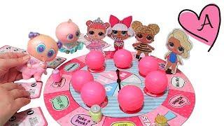 Bebes juegan con juego de mesa LOL Surprise | Muñecas y juguetes con Andre para niñas y niños