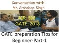 How to prepare GATE (for beginners). sure shot strategy view.-Part -1