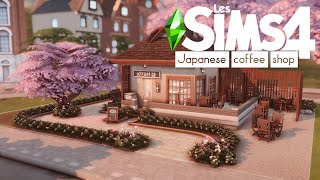 Japanese Coffee Shop | THE SIMS 4 : SPEED BUILD | NO CC