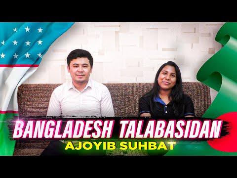 Bangladesh talabasi O'zbeklar haqida nima dedi? Shoxrux Bashirovdan ajoyib suhbat