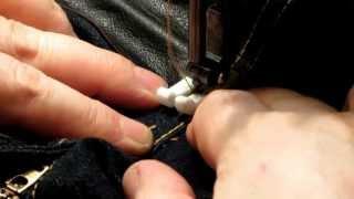 Как ликвидировать потертости на джинсах, между ног (Часть 1.)