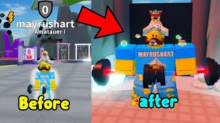 Becoming A Master In Lift Legends Simulator Roblox! Reached Level 200 Rebirth!