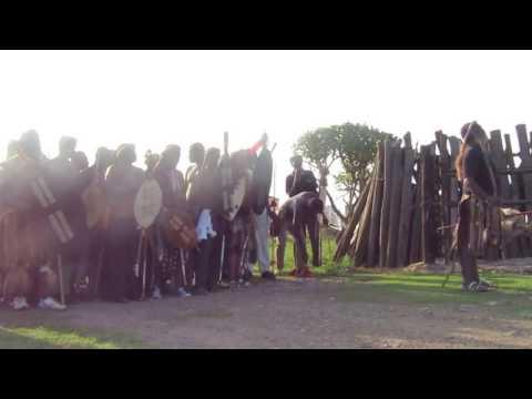 Zulu Praise Singer (Inyosi / Imbongi) reciting Zulu Kings' praises