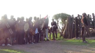 Zulu Praise Singer (Inyosi / Imbongi) reciting Zulu Kings