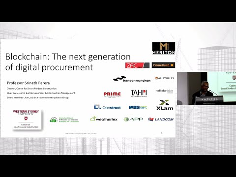 Blockchain: The next generation of digital procurement - Prof. Srinath Perera