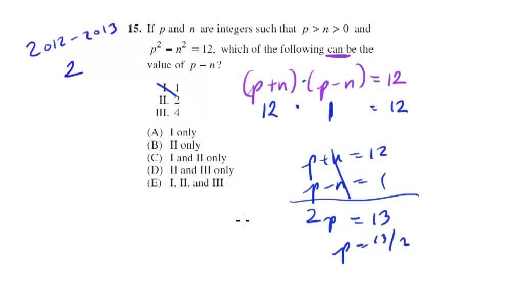 Math Examples Algebra Shortcuts Algebra Sat Math