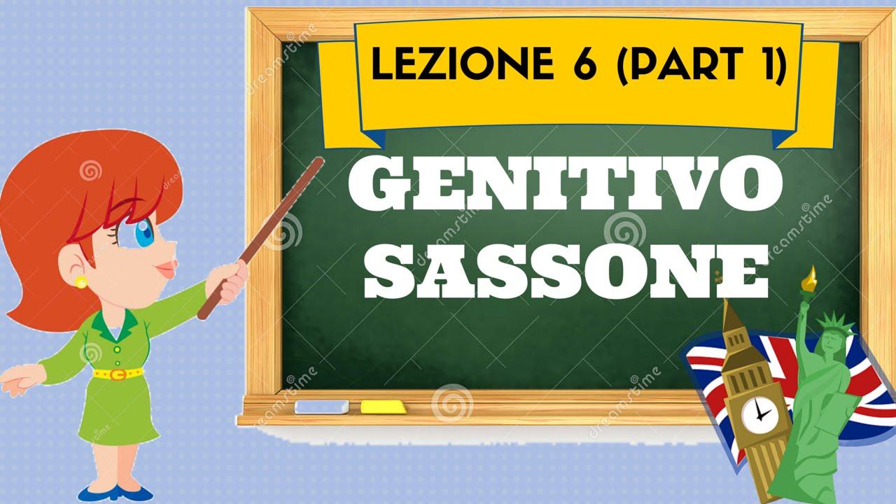 Corso di inglese 6 (1) - GENITIVO SASSONE - YouTube