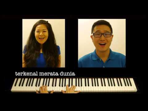 Dirgahayu Tanahair Ku - vocal duet with piano accompaniment