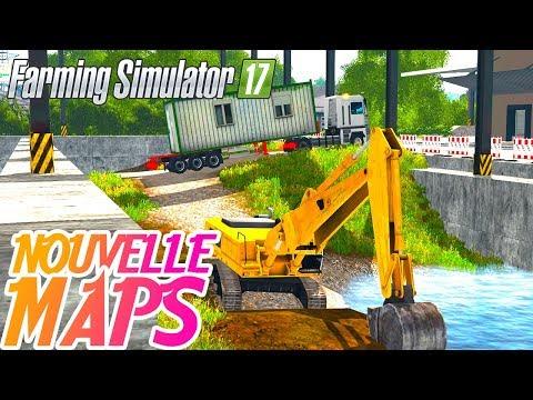découverte de la Nouvelle maps ! (Farming simulator 17 LIVE)