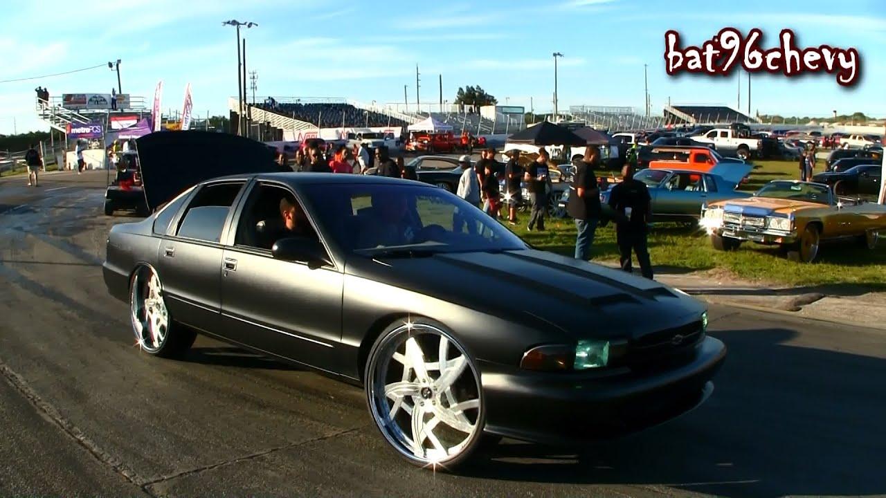 Flat Black 1996 Impala Ss On 26 Quot Amani Forged Wheels