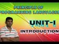 L1:Principle of Programming Language Lecture in Hindi Full Explained by University Academy