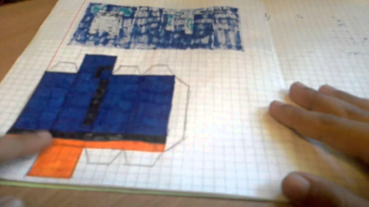 майнкрафт из бумаги схема lololoshka