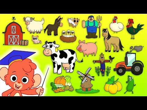 Animal ABC    Learn the alphabet with Farm Animals for children   abcd videos for kids A to Z