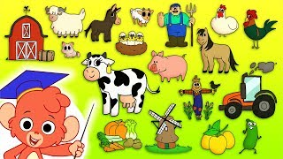 Animal ABC |  Learn the alphabet with Farm Animals for children | abcd videos for kids A to Z