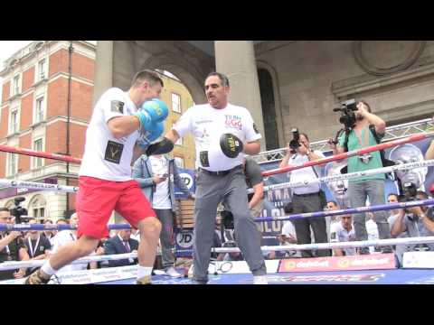 Gennady Golovkin SICK POWER Killing The Mitts In UK Ready To KO Kell Brook EsNews Boxing