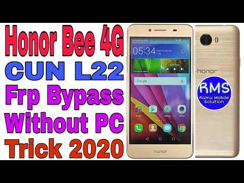 Honor Bee 4G (CUN L22) Frp Bypass Without PC || New Trick 2020 || Ramu Mobile Solution