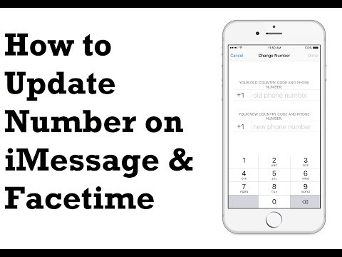 How to Update New number on iMessage and FaceTime