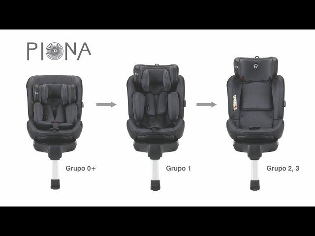 Carbebé Cadeira auto Piona  Grupo 0+/1/2/3