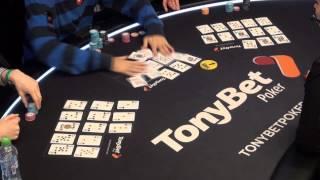Jennifer Shahade, Jason Mercier and Marek Kolk Play at the Tonybet Poker OFC World Championship