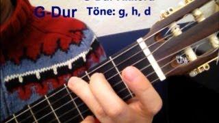 "G- D- C-Dur Gitarrengriffe lernen - ""knockin"