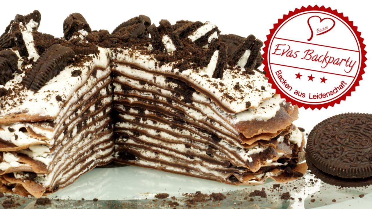 Oreo  Crepes  Torte  Torte aus Crpe  Schokoladencrpe