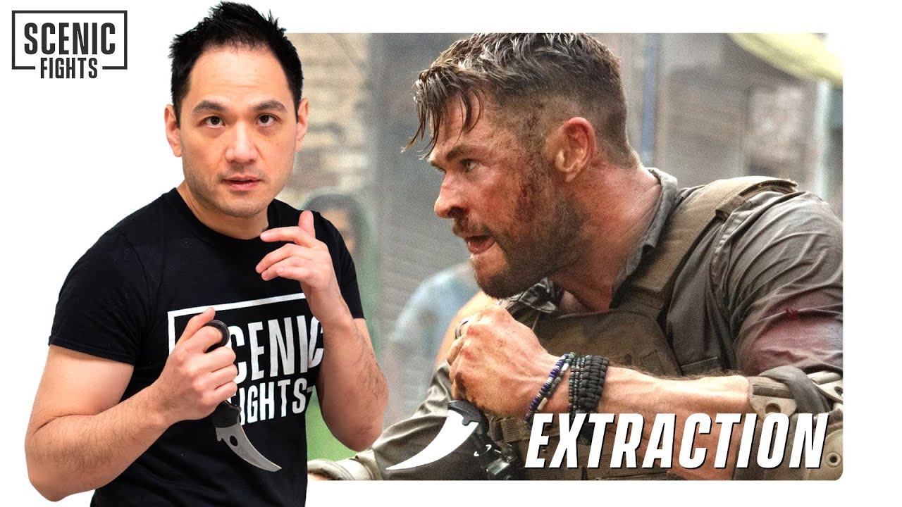 Knife Expert Breaks Down the Karambit Knife Fight in Extraction with Chris Hemsworth   Scenic Fights