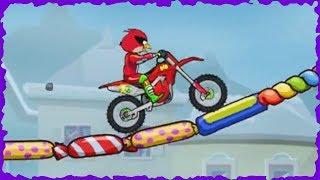 Angry Bird In Moto X3M Bike Race Game Winter Game Mobile Gameplay Walkthrough