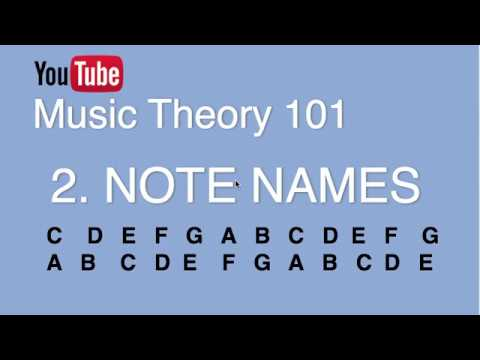 2. Note Names, Semitone, Accidentals (Music Theory 101)