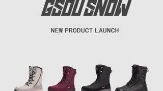 GSOU SNOW 스노우부츠 여성 겨울 미끄럼방지 워커…