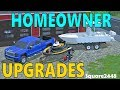 Farming Simulator 17 | Homeowner Series | Upgrades | Push Mower, Blower, Weed Eater, Jetski & Boat