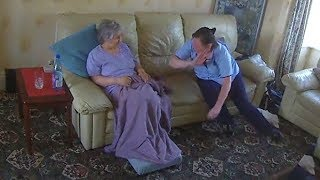 Carer filmed slapping dementia patient and telling her she
