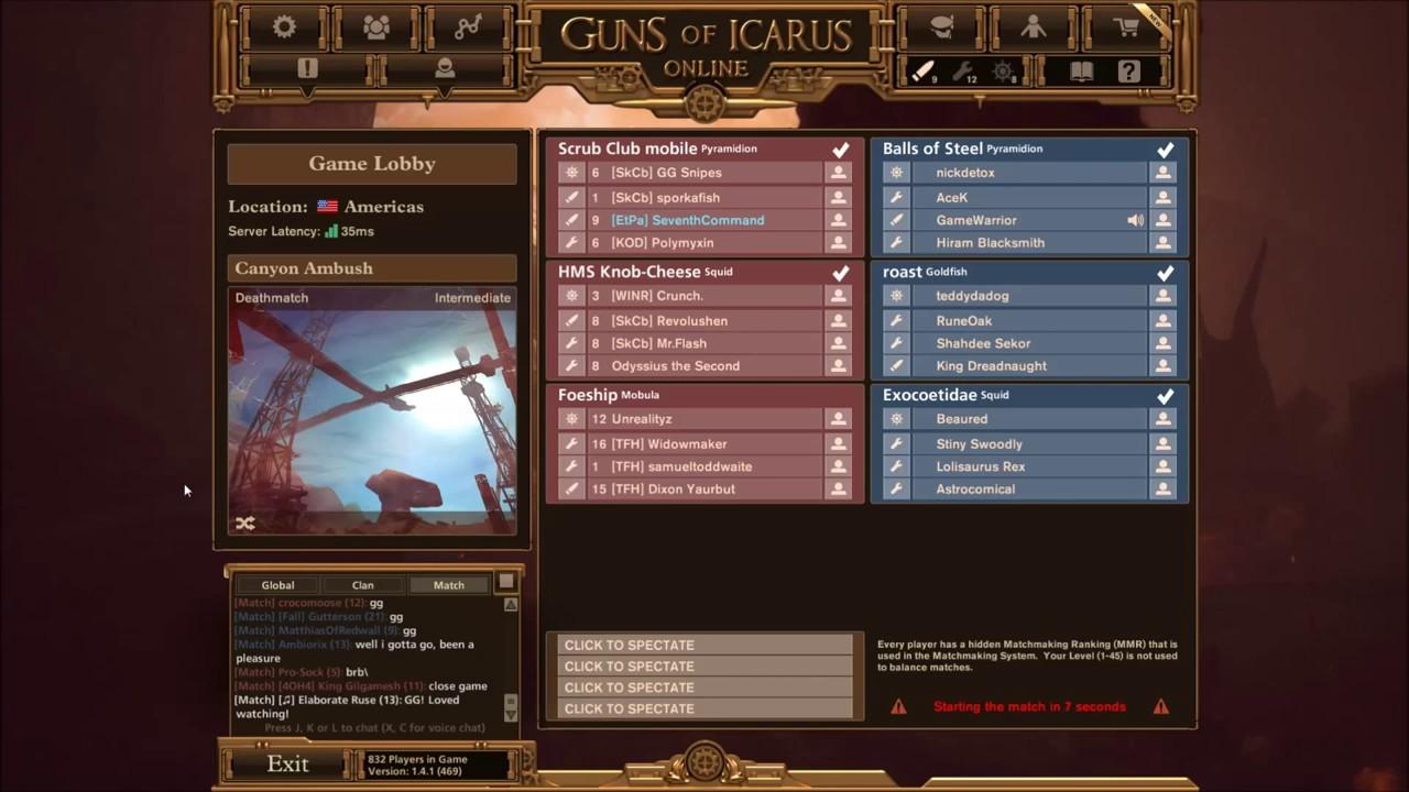 guns of icarus matchmaking
