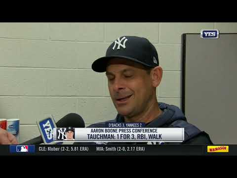 Aaron Boone frustrated after loss to Diamondbacks