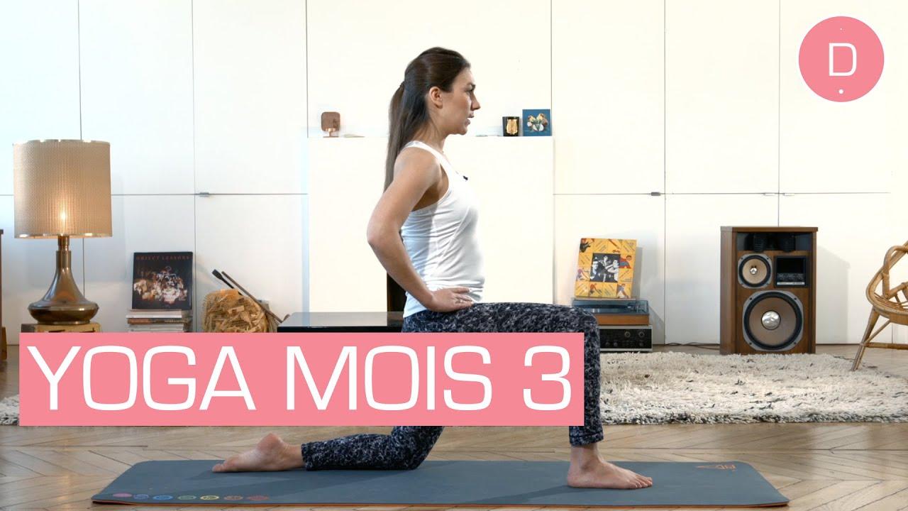 Célèbre Yoga prénatal - Yoga 3ème mois de grossesse - YouTube OK25